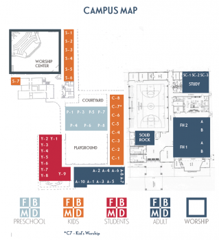 First Baptist Church of Mount Dora Florida Campus Map Overview